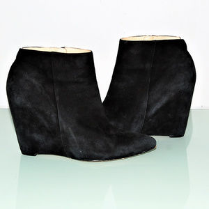 COLE HAAN Black Verdi Suede Leather Ankle Boots